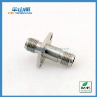 2.92mm RF Coaxial Adapter 40GHz Female to Female with Flange A29F29FF4